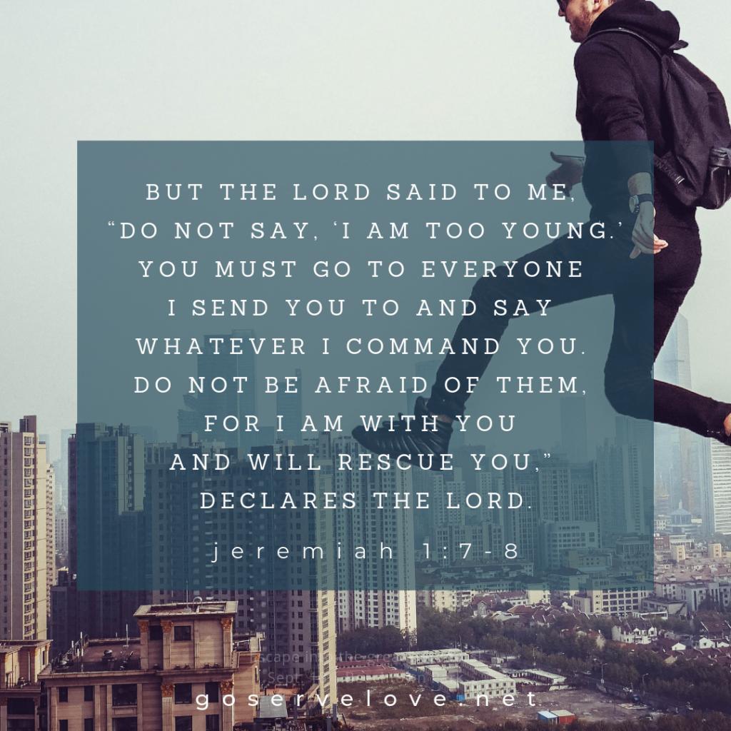 MISSIONS VERSE SCRIPTURE MEMORIZE JEREMIAH 1:7-8